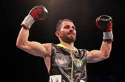 Guillaume Frenois after the Final Eliminator for IBF Super-Featherweight Champioship match at the FlyDSA Arena, Sheffield.