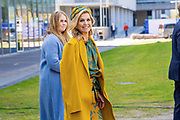 EINDHOVEN, 27-04-2021, High Tech Campus<br /> <br /> Koningin Maxima met Prinses Amalia Foto: Brunopress/POOL/Mischa Schoemaker<br /> <br /> Queen Maxima with Princess Amalia during King's Day 2021 at Eindhoven