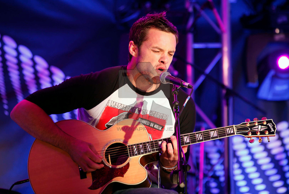 Bressie pictured performing at the launch of Arthur's Day 2011. Pic Andres Poveda CPR