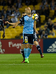 October 7, 2017 - Melbourne, Victoria, Australia - Adrian Mierzejewski (#11) of Sydney FC in action during the round 1 match between Melbourne Victory and Sydney FC at Etihad Stadium in Melbourne, Australia during the 2017/2018 Australian A-League season. (Credit Image: © Theo Karanikos via ZUMA Wire)
