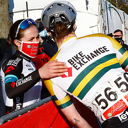 25-03-2021: Wielrennen: Classic Brugge - De Panne Women: De Panne <br /> Grace Brown (Team BikeExchange) has won the women's Classic Brugge-De Panne. The Australian attacked out of a 12-rider lead group that formed in a crosswind section and held off the chase of favourite sprinters on the last ten kilometres to the finish.