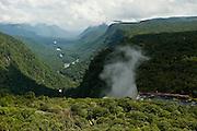 Kaieteur Falls <br /> 226 Meters<br /> Potaro River which runs into the Essequibo River<br /> Kaieteur National Park<br /> Rainforest<br /> GUYANA<br /> South America