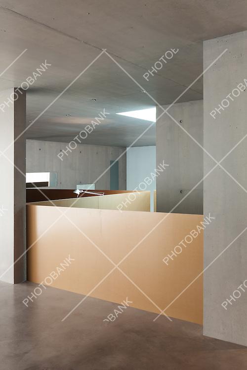 interior modern house, concrete wall