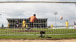 Falkirk's Farid El Alagui scoring their second goal..Falkirk 3 v 2 Ayr United, 5/5/2012..©Michael Schofield..
