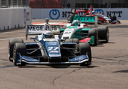 March 9, 2019 - St. Petersburg, FL, U.S. - ST. PETERSBURG, FL - MARCH 09: Robert Megennis (27) during the Indy Lights Race of St. Petersburg on March 9 in St. Petersburg, FL. (Photo by Andrew Bershaw/Icon Sportswire) (Credit Image: © Andrew Bershaw/Icon SMI via ZUMA Press)
