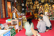 Thailand, Burning essence in a Temple,