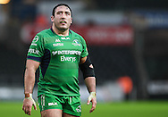 Connacht's Dennis Buckley in action during todays match.<br /> <br /> Guinness Pro12 rugby match, Ospreys v Connacht rugby at the Liberty Stadium in Swansea, South Wales on Saturday 7th January 2017.<br /> pic by Craig Thomas, Andrew Orchard sports photography.
