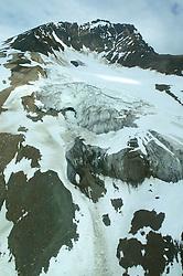 Mountain & GlacierYukon Scenic Aerial Of Mountain