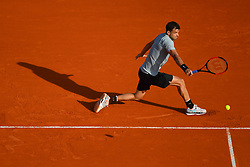 April 17, 2018 - Monte Carlo, Monaco - GRIGOR DIMITROV in action during the Rolex Monte Carlo Masters Tennis tournament of the Masters 1000 ATP World Tour. Dimitrov beat P. Herbert 3-6 6-2 6-4.  (Credit Image: © Panoramic via ZUMA Press)