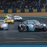 At the start #77, Dempsey-Proton Racing, Porsche 911 RSR, LMGTE Am, driven by: Christian Ried, Julien Andlauer, Matt Campbell on 15/06/2019 at the Le Mans 24H 2019