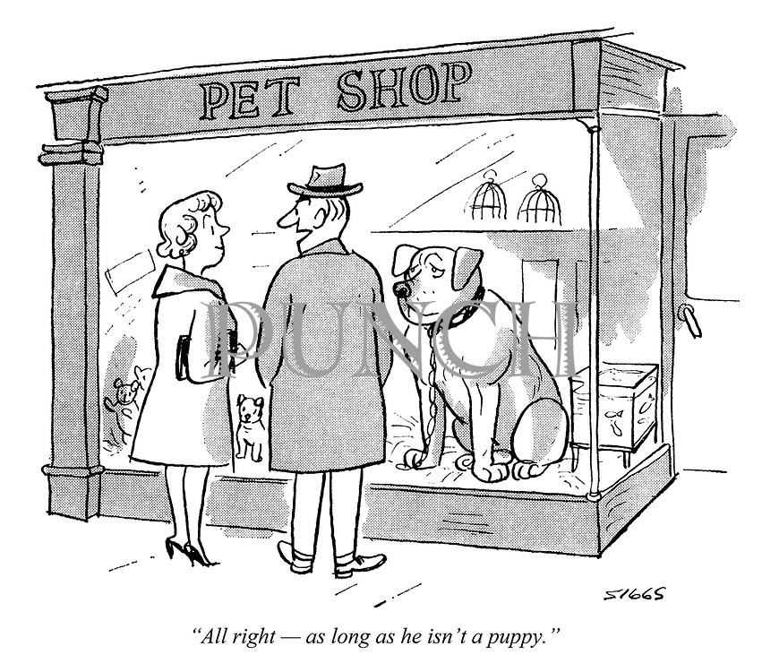 """""""All right — as long as he isn't a puppy."""""""