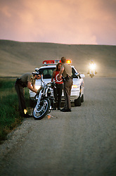 Walk the Line. Sturgis, SD. 1994<br /> <br /> Limited Edition Print from an edition of 50. Photo ©1994 Michael Lichter.