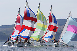 The Clyde Cruising Club's Scottish Series held on Loch Fyne by Tarbert. Day 2 racing in a perfect southerly..Sigma 33 Fleet GBR4254 ,Sea-Pie of Cultra ,Jerry Colman ,Manx S & CC