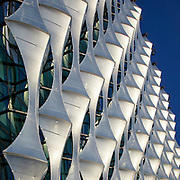 Detail of the ETFE cladding to the American Embassy in Nine Elms designed by Keiran Timberlake Architects.<br /> London, UK