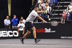 October 4, 2018 - St. Louis, Missouri, U.S - MARK PHILIPPOUSSIS with the backhand return during the Invest Series True Champions Classic on Thursday, October 4, 2018, held at The Chaifetz Arena in St. Louis, MO (Photo credit Richard Ulreich / ZUMA Press) (Credit Image: © Richard Ulreich/ZUMA Wire)