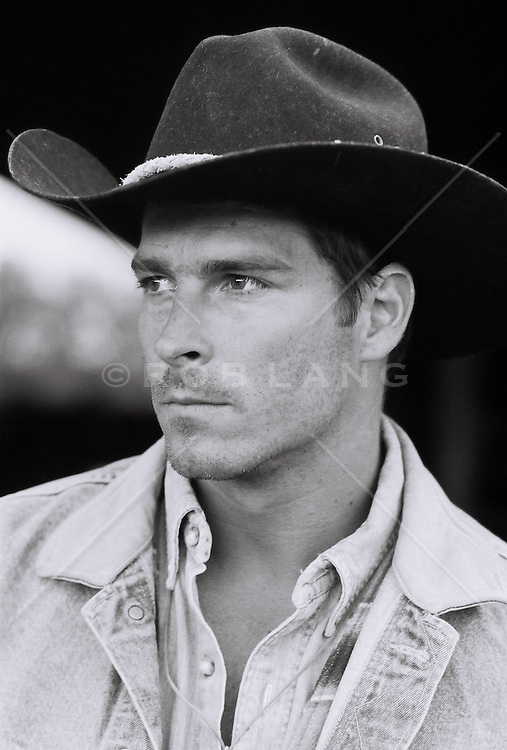 Portrait of a very handsome cowboy
