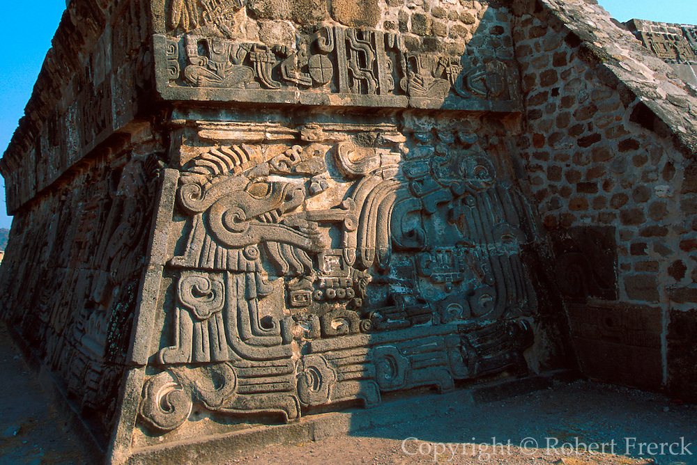 MEXICO, PREHISPANIC Xochicalco; Plumed Serpent Pyramid