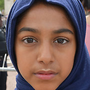 11 years old Hijab girl aka kidboss sends a message to the Queen about Donald Trump visit, this is the way we are and is our choice and our choosen lifestyle on 2nd June 2019, London, UK.