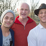 NLD/Amsterdam/20151215 -  Nominatielunch Musical Awards Gala 2016, Tommie Christiaan, Arjan Ederveen, Bram Blankestijn