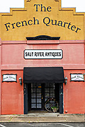 The French Quarter building in the Historic District of St Marys, Georgia.