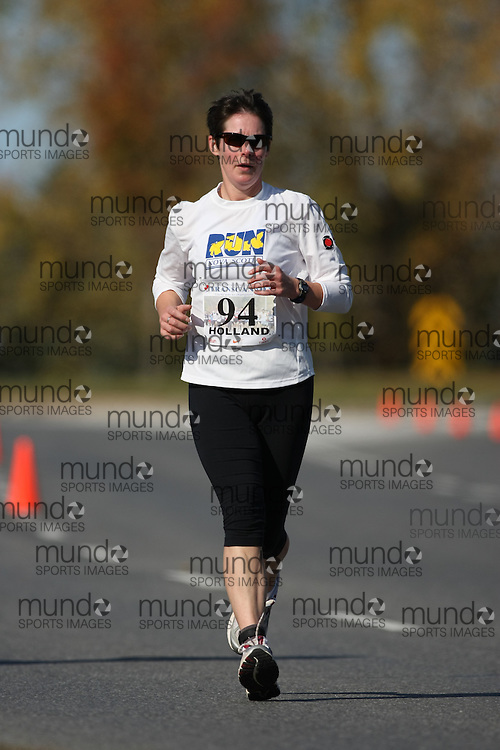 (Ottawa, ON---18 October 2008) NANCY HOLLAND competes in the 2008 TransCanada 10km Canadian Road Race Championships. Photograph copyright Sean Burges/Mundo Sport Images (www.msievents.com).