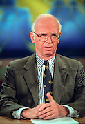 David Broder, political columnist and writer discusses the upcoming elections during NBC's Meet the Press November 1, 1998 in Washington, DC.