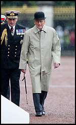 August 2, 2017 - London, London, United Kingdom - Image ©Licensed to i-Images Picture Agency. 02/08/2017. London, United Kingdom. The Duke of Edinburgh attending the Captain General's Parade. ..The Duke of Edinburgh attending the Captain General's Parade as his final individual public engagement, at Buckingham Palace in London. The Duke meets Royal Marines who have completed a mammoth 1,664 mile trek on Wednesday - his final official royal event before he retires from public engagements....Picture by  i-Images / Pool (Credit Image: © i-Images via ZUMA Press)