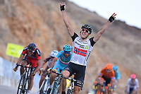 Arrival, BOASSON HAGEN Edvald (NOR) Dimension Data, winner, NIBALI Vincenzo (ITA) Astana, VAN AVERMAET Greg (BEL) BMC, during the 7th Tour of Oman 2016, Stage 2, Omantel Head Office - Quriyat 250m (162Km), on February 17, 2016 - Photo Tim de Waele / DPPI