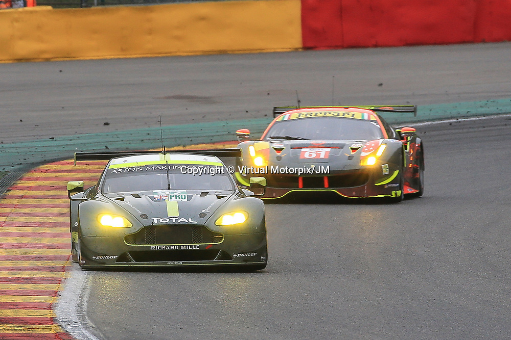 #97, Aston Martin Racing, Martin Vantage, driven by, Jonny Adam, Darren Turner, Daniel Serra, FIA WEC 6hrs of Spa 2017, 06/05/2017,