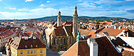 Roof top views Sopron, Hungary .<br /> <br /> Visit our HUNGARY HISTORIC PLACES PHOTO COLLECTIONS for more photos to download or buy as wall art prints https://funkystock.photoshelter.com/gallery-collection/Pictures-Images-of-Hungary-Photos-of-Hungarian-Historic-Landmark-Sites/C0000Te8AnPgxjRg