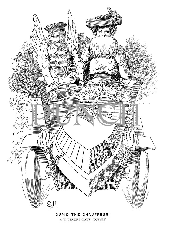 Cupid the Chauffeur. A Valentine-<br />Day's journey.
