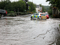 South Yorkshire Police leaving the Car Park at Ecclesfield Sub Divisional HQ Station Rd Ecclesfield Sheffield<br /> 15th June 2007<br /> Image COPYRIGHT Paul David Drabble