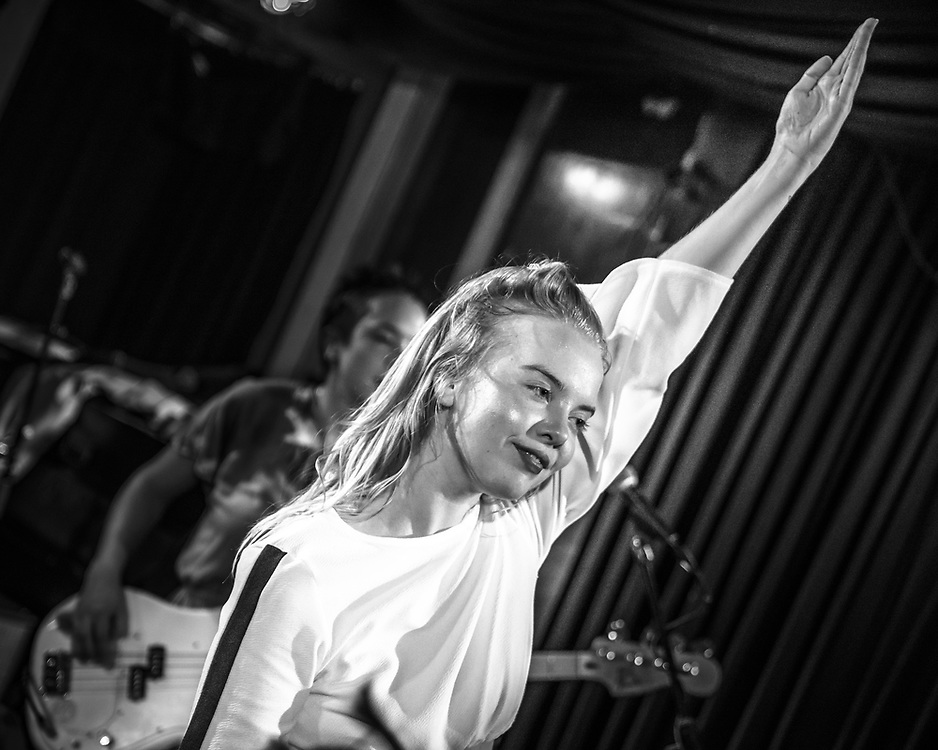 Rakel Mjöll of British-Icelandic punk-rock band Dream Wife at Blue Shell in Cologne