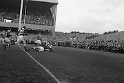 Irish Rugby Football Union, Ireland v Wales, Five Nations, Landsdowne Road, Dublin, Ireland, Saturday 12th March, 1966,.12.3.1966, 3.12.1966,..Referee-  R P Burrell, Scottish Rugby Union, ..Score- Ireland 9 - 6 Wales, ..Irish Team, ..T J Kiernan,  Wearing number 15 Irish jersey, Full Back, Cork Constitution Rugby Football Club, Cork, Ireland,..A T A Duggan, Wearing number 14 Irish jersey, Right Wing, Landsdowne Rugby Football Club, Dublin, Ireland,..F P K Bresnihan, Wearing number 13 Irish jersey, Right Centre, University College Dublin Rugby Football Club, Dublin, Ireland, ..J C Walsh,  Wearing number 12 Irish jersey, Left Centre, Sundays Well Rugby Football Club, Cork, Ireland, ..P J McGrath,  Wearing number 11 Irish jersey, Left Wing, University college Cork Rugby Football Club, Cork, Ireland,  ..C M H Gibson, Wearing number 10 Irish jersey, Stand Off, Cambridge University Rugby Football Club, Cambridge, England, and, N.I.F.C, Rugby Football Club, Belfast, Northern Ireland, ..R M Young, Wearing number 9 Irish jersey, Scrum Half, Queens University Rugby Football Club, Belfast, Northern Ireland,..R A Lamont, Wearing number 8 Irish jersey, Forward, Instonians Rugby Football Club, Belfast, Northern Ireland, ..M G Doyle, Wearing number 7 Irish jersey, Forward, Cambridge University Rugby Football Club, Cambridge, England,..N Murphy, Wearing number 6 Irish jersey, Forward, Cork Constitution Rugby Football Club, Cork, Ireland,..W A Mulcahy, Wearing number 5 Irish jersey, Forward, Bective Rangers Rugby Football Club, Dublin, Ireland,  ..W J McBride, Wearing number 4 Irish jersey, Forward, Ballymena Rugby Football Club, Antrim, Northern Ireland,..R J McLoughlin, Wearing number 3 Irish jersey, Forward, Gosforth Rugby Football Club, Newcastle, England, ..K W Kennedy, Wearing number 2 Irish jersey, Forward,  C I Y M S Rugby Football Club, Belfast, Northern Ireland, ..S MacHale, Wearing number 1 Irish jersey, Forward, Landsdowne Rugby Football Club, Dublin, Ireland, ..Welsh Te