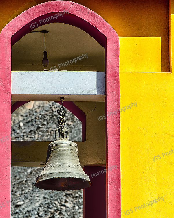 Bell Tower of the ancient franciscian church in Sisicaya