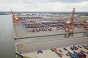 Nederland, Noord-Holland, Amsterdam, 16-04-2008; Amerikahaven, CERES Container Terminal aan Ruijgoordweg (Ruigoordweg); containerterminal, kraan, insteekhaven, Westhaven, Westelijk havengebied..luchtfoto (toeslag); aerial photo (additional fee required); .foto Siebe Swart / photo Siebe Swart