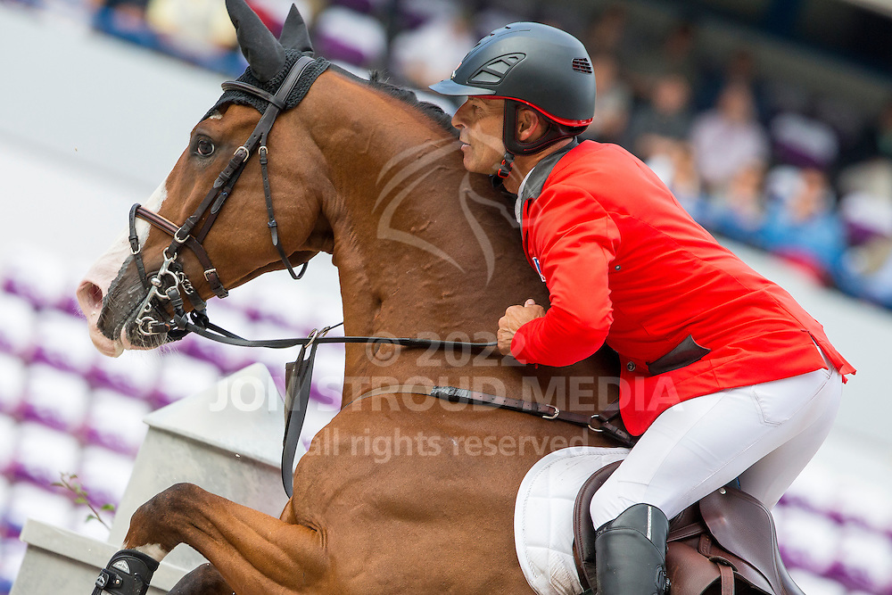 Pius Schwizer, (SUI), Toulago - Team & Individual Competition Jumping Speed - Alltech FEI World Equestrian Games™ 2014 - Normandy, France.<br /> © Hippo Foto Team - Leanjo De Koster<br /> 02-09-14