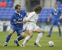 Photo. Aidan Ellis, Digitalsport<br /> Bolton Wanderers v Birmingham City.<br />  FA Barclaycard Premiership.<br /> 25/10/2003.<br /> Bolton's Ivan Campo and Birmingham's Stephen Clemence