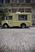 The Van Leeuwen Artisan Ice Cream truck in Soho  in New York.