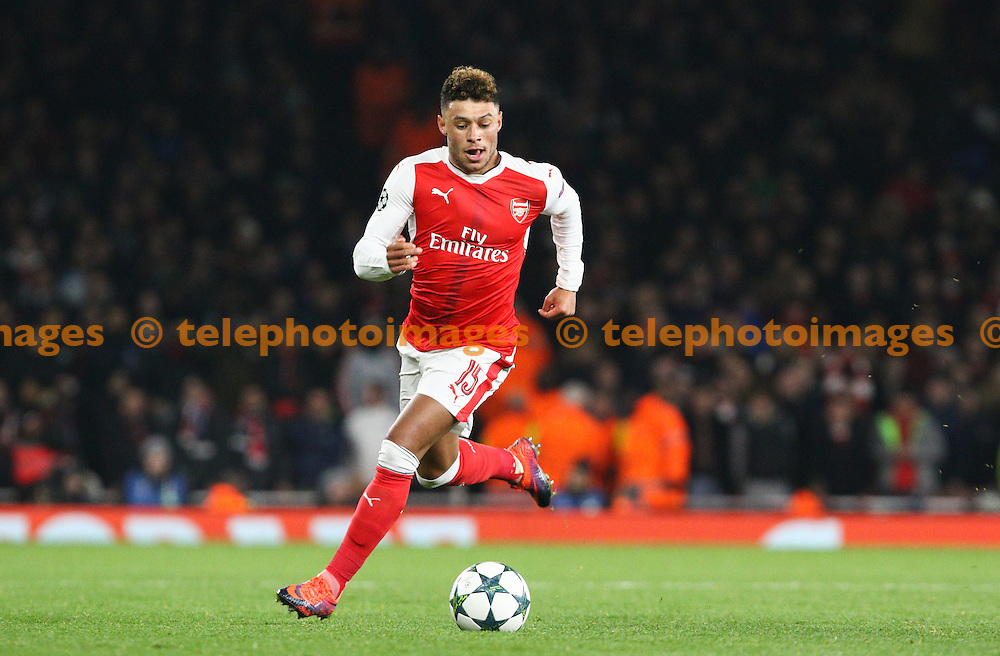 Alex Oxlade-Chamberlain of Arsenal during the UEFA Champions League match between Arsenal and Paris Saint-Germain at the Emirates Stadium in London. November 23, 2016.<br /> Arron Gent / Telephoto Images<br /> +44 7967 642437