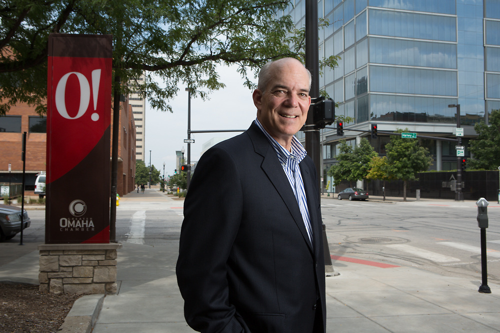 13 August 2013- David Brown is photographed at The Omaha Chamber.