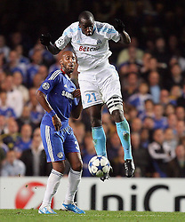 28.09.2010, Stamford Bridge, London, ENG, UEFA Champions League, Chelsea vs Olympique Marseille, im Bild OM's Souleymane Diawara  with Chelsea's Nicolas Anelka during the Match Chelsea v Marseille, Group F, of  the UCL ( Uefa Champions League Group stages)  at Stamford Bridge in London. EXPA Pictures © 2010, PhotoCredit: EXPA/ IPS/ Marcello Pozzetti +++++ ATTENTION - OUT OF ENGLAND/UK +++++ / SPORTIDA PHOTO AGENCY