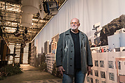 Production designer Thomas Walsh, former president of Artistic Directors Guild who now oversees the Backdrop Recovery Project on set in Albuquerque New Mexico.