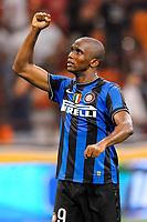 Fotball<br /> Italia<br /> Foto: Inside/Digitalsport<br /> NORWAY ONLY<br /> <br /> Samuel Eto'o<br /> <br /> 29.08.2009<br /> Serie A 2009/2010<br /> Milan v  Inter 0-4