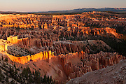 Bryce Canyon, Utah.  Before dawn I hiked off trail to a vantage point I had eyed over many years here.  Watching the sun rise from the canyon rim that you are looking at is almost a ritual here.  I've seen busses pull up before sunrise at the observation points over there; once, on the platform at Sunrise Point, as I waited for it's namesake, a huge group of Germans piled on and surrounded me, paying me no mind in their anticipation.  They broke into an anthem as the sun crested the horizon, and I retreated into their shadow...indeed, I was but a shadow to them.  That view, spectacular as it is, looks into the sun.  I wanted the canyon being lit from the other direction.  And so I was back in the shadows.  Looking at a shadowland.  I've hiked those trails below me, weaving in and out of the hoodoos, in and out of the light and shade in their tortured course through the maze down there.  At sunup, the highpoints lit up, shadows retreating eastward and lengthening westward.  Exposure and relief all day long.  As it is in life, it is in the living.  These days I wish to watch the light, not wanting some darknesses to be exposed.