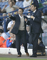 Photo: Aidan Ellis.<br /> Leeds United v Burnley. Coca Cola Championship. 14/04/2007.<br /> Leeds Dennis Wise and Gustavo poyet discuss tactics