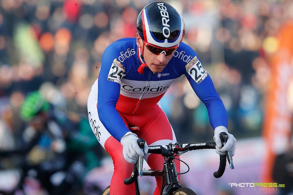 HOLLAND / THE NETHERLANDS / NEDERLAND / CYCLING / CYCLOCROSS / VELDRIJDEN / RADQUER / WORLD CUP #8 / WERELDBEKER #8 / COUPE DU MONDE #8 / GP ADRIE VAN DER POEL / VENTURINI CLEMENT /