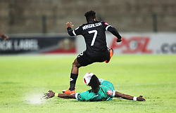 02102018 (Durban) Maritzburg United player Keletso Makgalwa  fight for a ball during the game when AmaZulu FC takes head on their KwaZulu-Natal rivals Maritzburg United in an Absa Premiership match at the King Zwelithini Stadium in Durban on Tuesday night. Usuthu extended their winless run to three league games when they lost 2-0 to Kaizer Chiefs away in their previous match over a week ago and after losing 6 points.<br /> Picture: Motshwari Mofokeng/African News Agency (ANA)