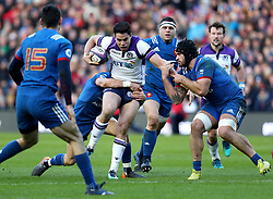 Scotland's Sean Maitland in action during the NatWest 6 Nations match at BT Murrayfield, Edinburgh.