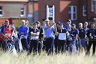 Brandon Wu (USA) on the 17th tee during Day 2 Foursomes of the Walker Cup, Royal Liverpool Golf CLub, Hoylake, Cheshire, England. 08/09/2019.<br /> Picture Thos Caffrey / Golffile.ie<br /> <br /> All photo usage must carry mandatory copyright credit (© Golffile   Thos Caffrey)